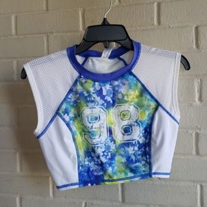BP Blue and White Crop Top